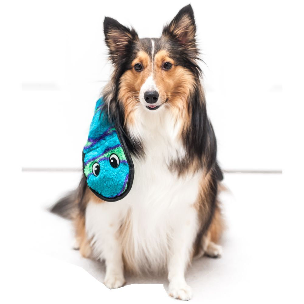 Outward Hound Invincible Snake 6 Squeak Blue and Green image
