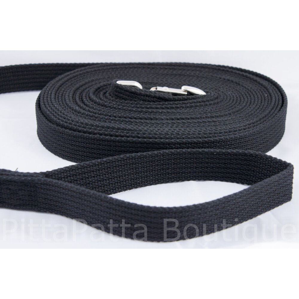 Canine Care Long Recall Training Dog Lead Black 9 metres image