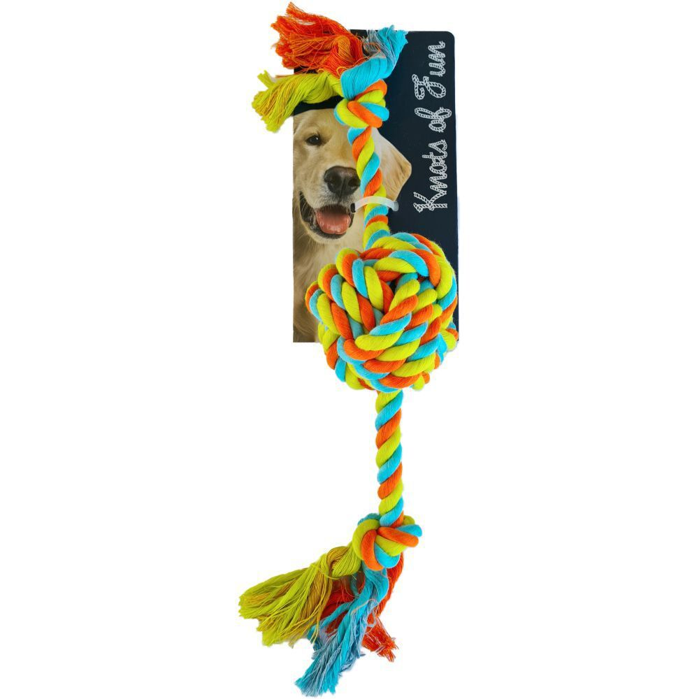Knots of Fun Rope Tug with Rope Ball 41cm Dog Rope Toy image