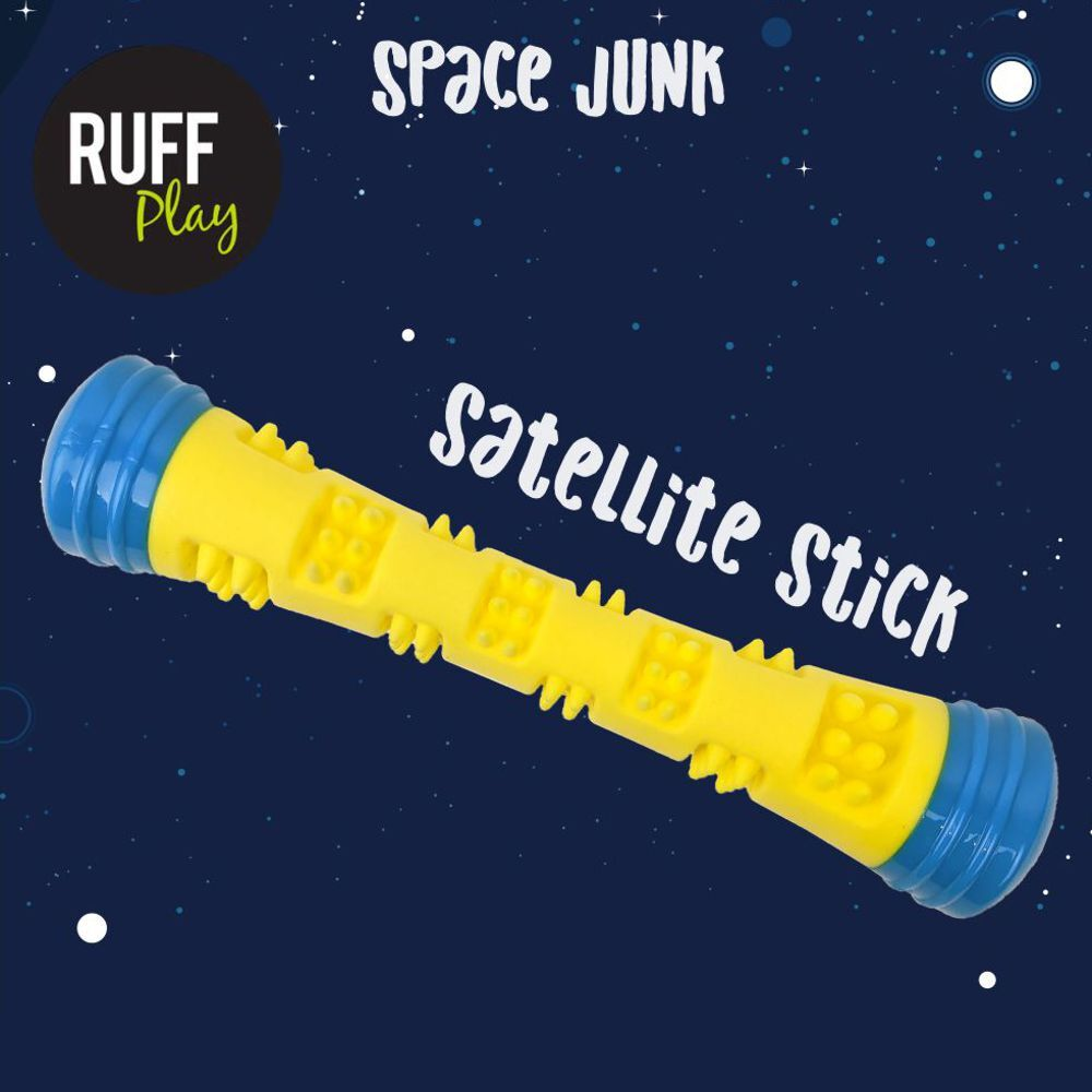 Ruff Play Space Junk Satellite Stick Dog Toy image