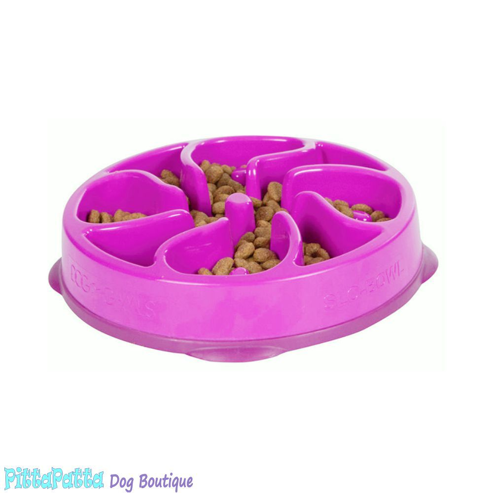 Outward Hound Pink Flower Fun Feeder Bowl (Mini) image