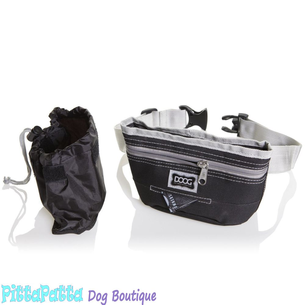 DOOG Treat Pouch Black and Grey Large image