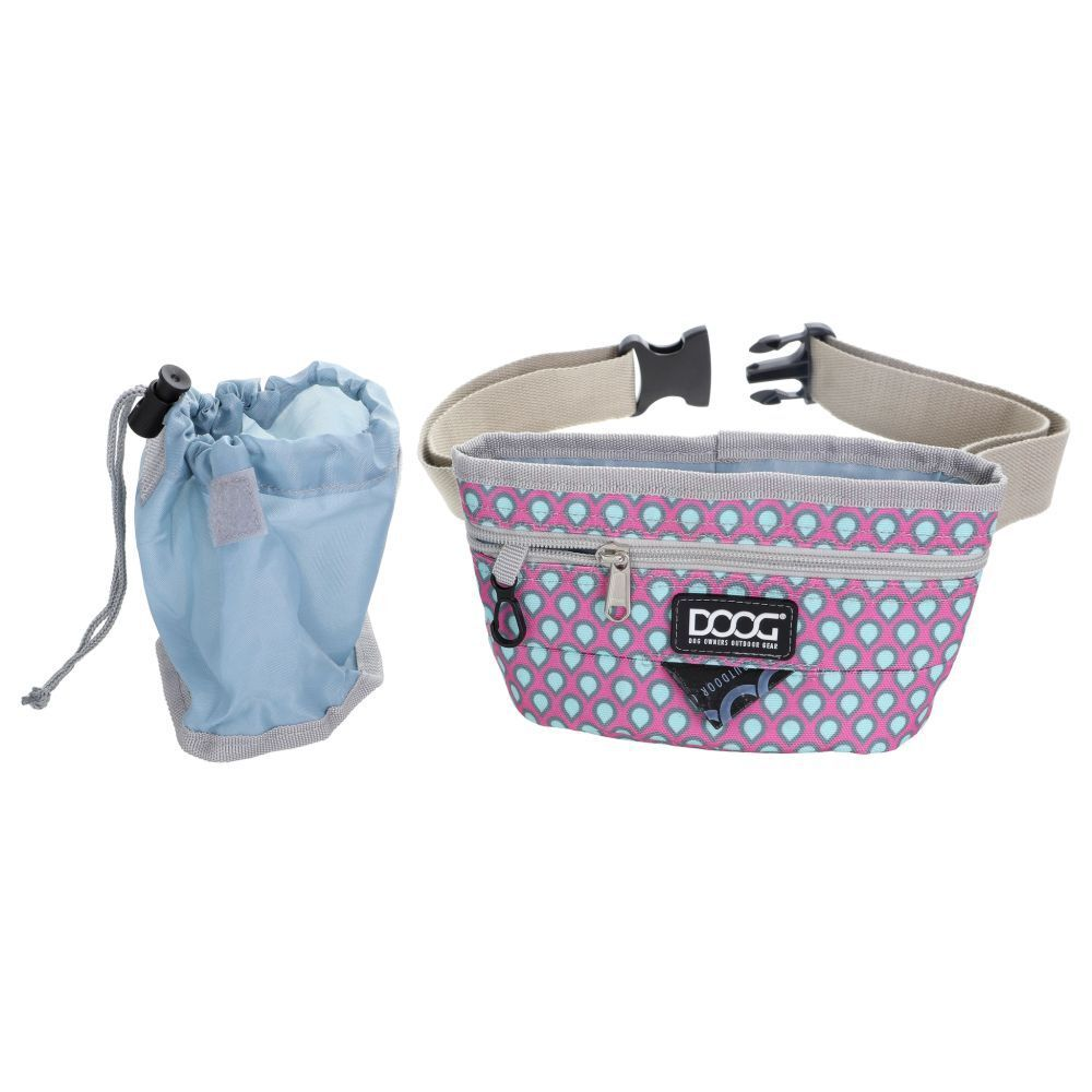 DOOG Treat Pouch Luna Pink and Green Tear Drops image
