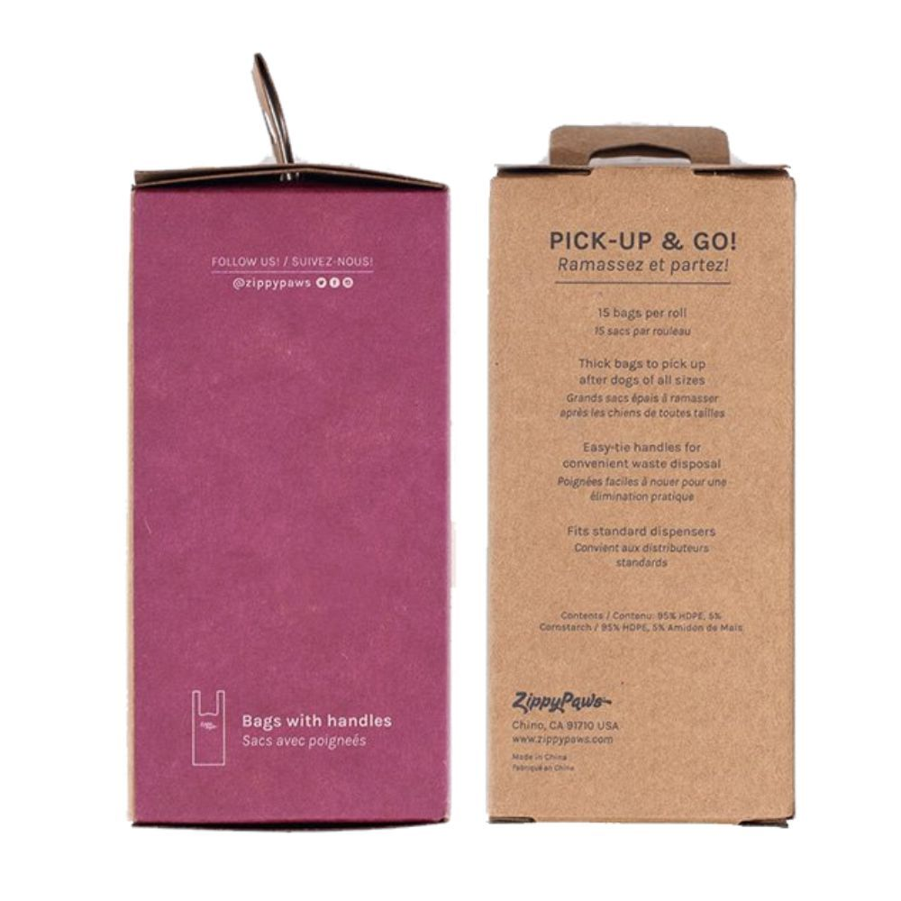 Zippy Pick-Up Bags on Roll - Pink Jasmine Scent 120ct image