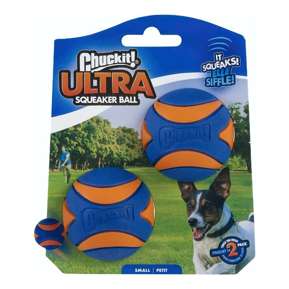 Chuckit! Ultra Squeaker Ball 2 Pack Small