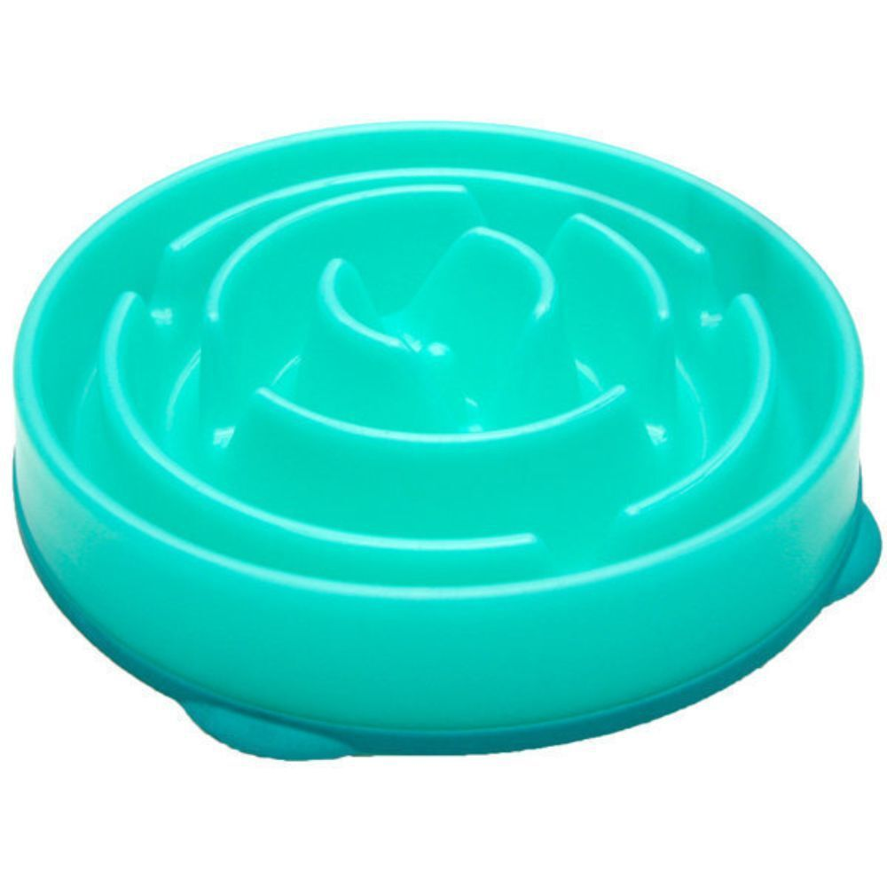 Outward Hound Teal Drop Fun Feeder Bowl (Large)