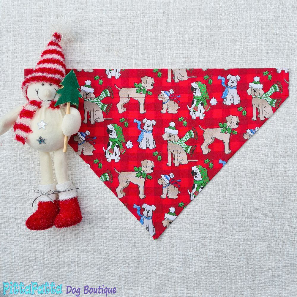 Collar Bandana Merry Dogmas Christmas Design XXS - XXL