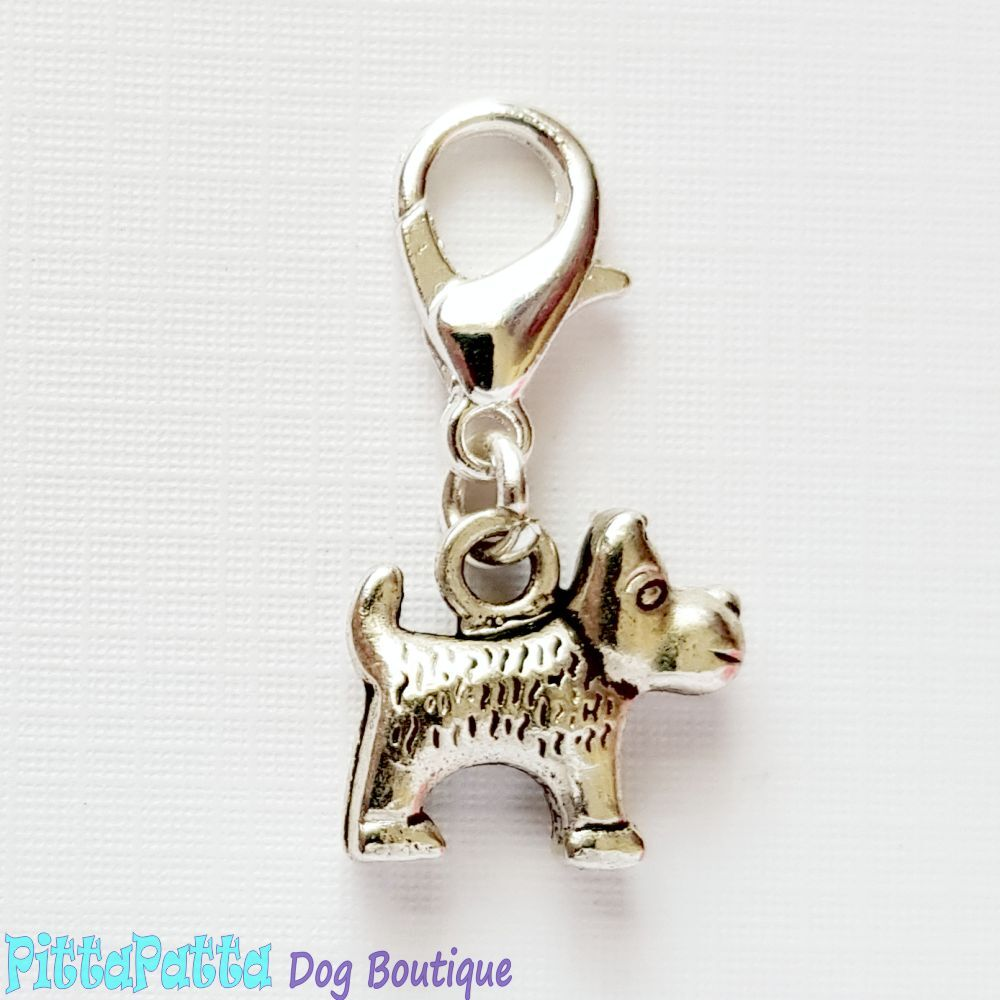 Dog Collar Charm - Terrier Dog