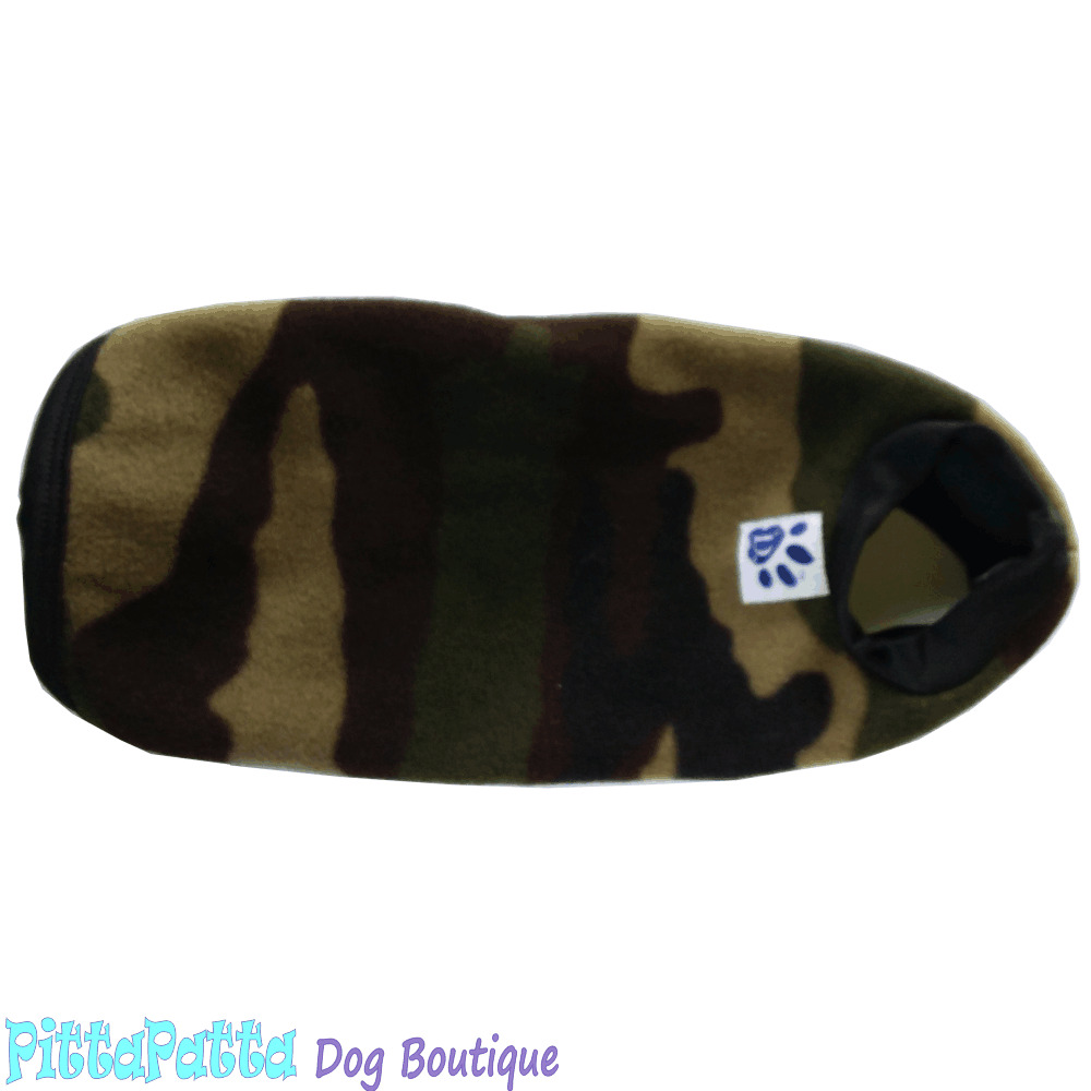 Double Polar Fleece Dog Coat Size 11 (29cm) - Camouflage