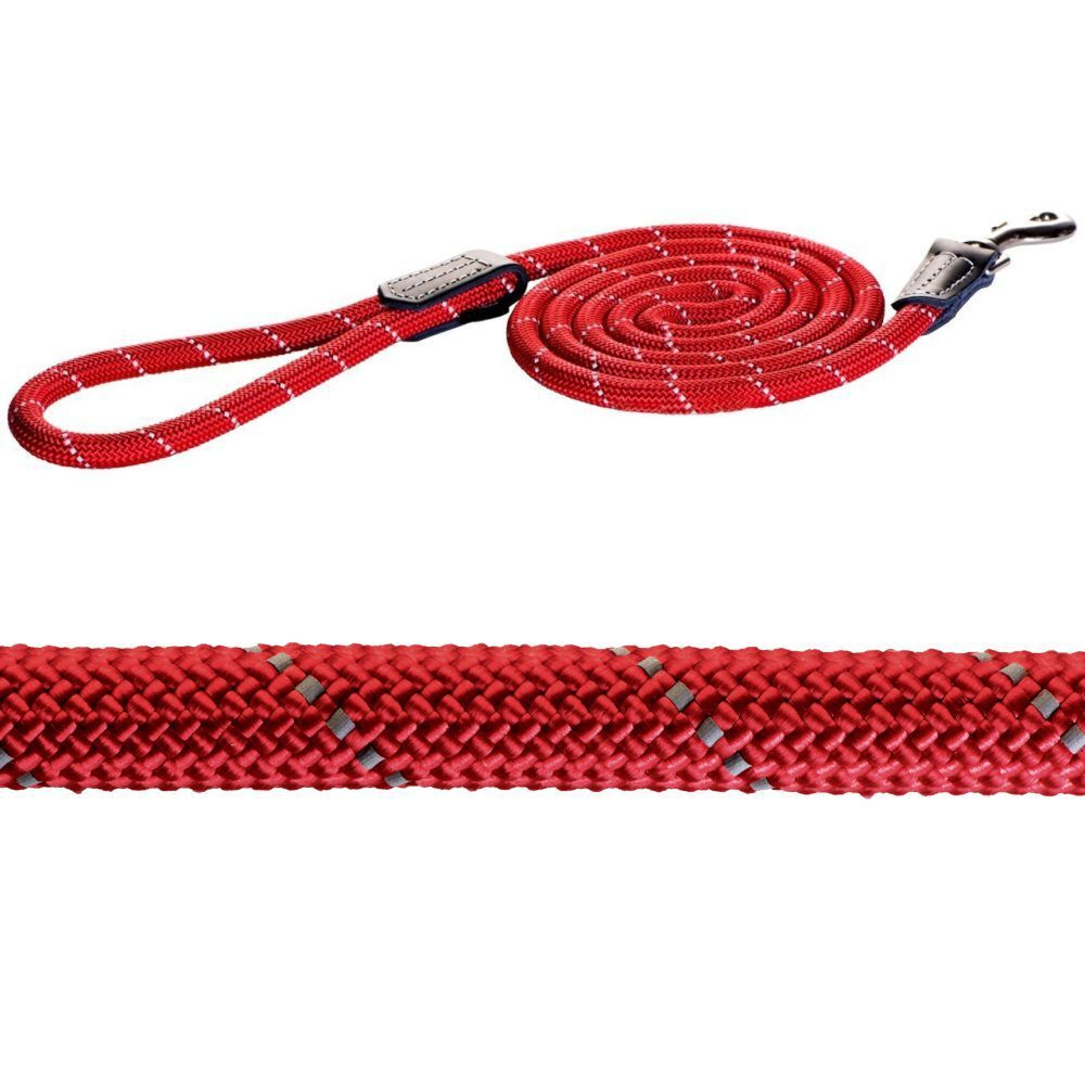 Rogz Long Rope Lead (Red, 12mm)