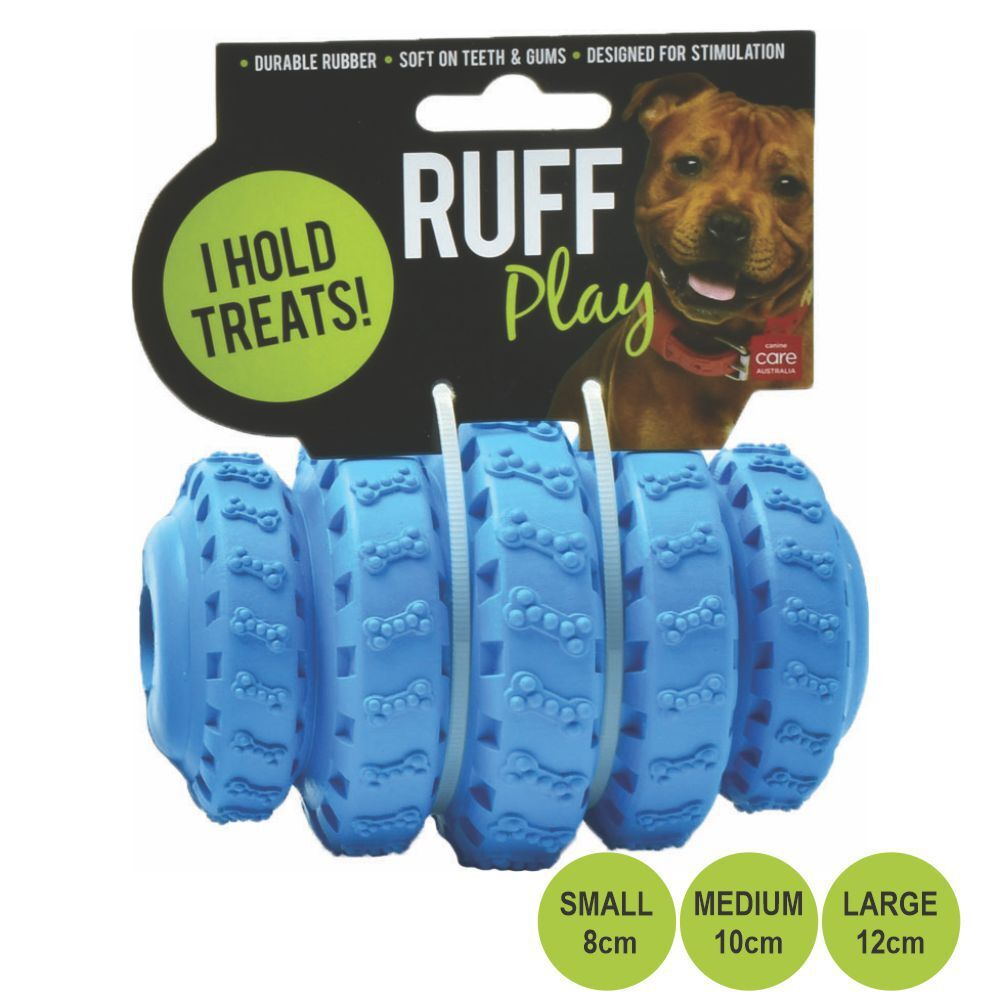 Ruff Play Tyre Roller Treat Dog Toy