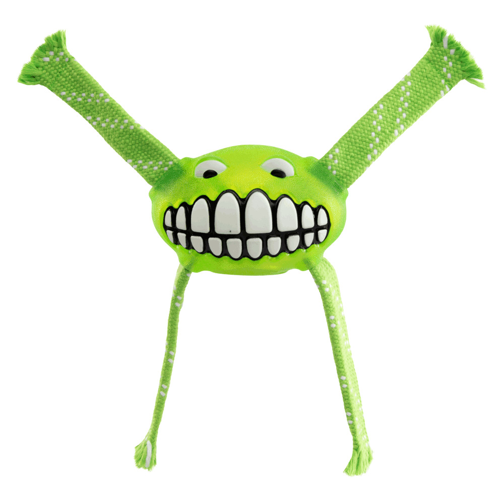 Rogz Flossy Grinz Oral Care Dog Toy Lime