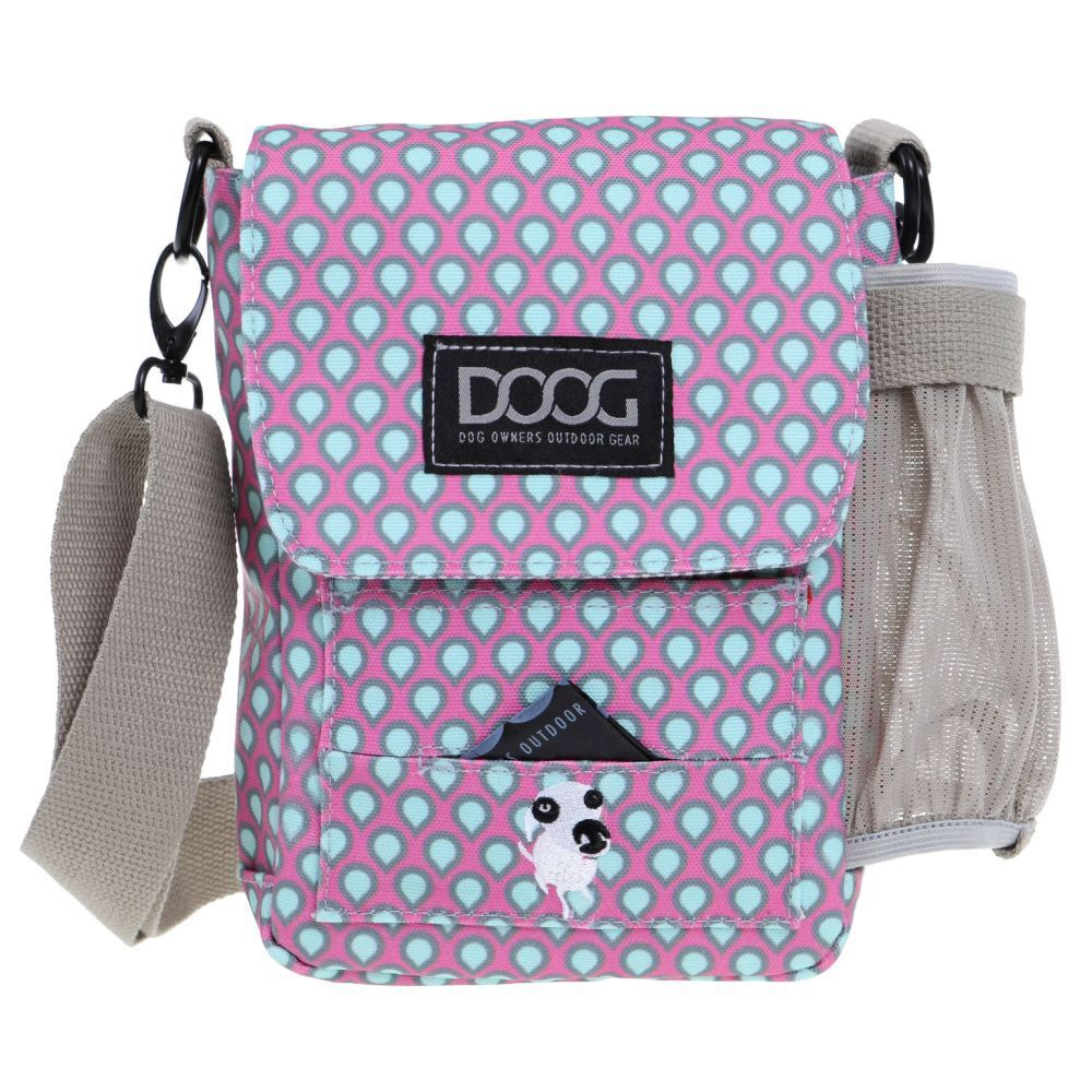 DOOG Walkie Bag Luna Pink and Green Tear Drops
