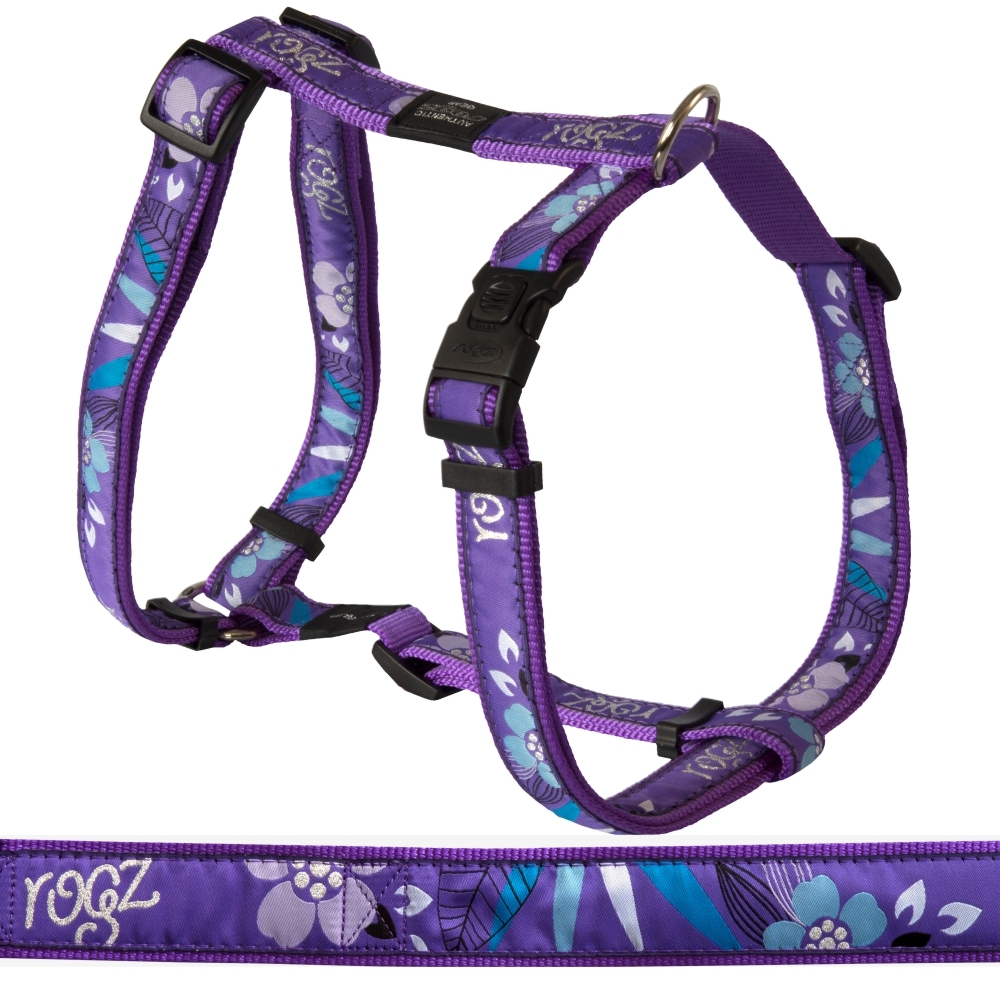 Rogz Classic Harness Fancy Dress, Purple Forest Design (XLarge)